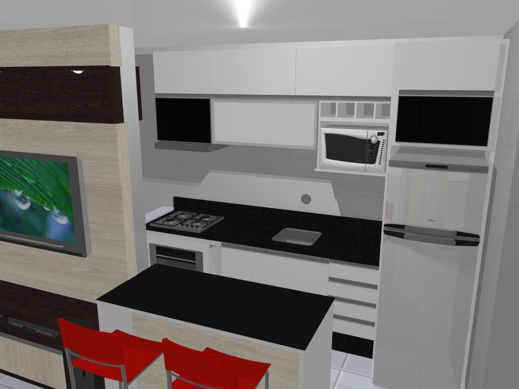 #830E08 Lhes apresento o projeto da futura cozinha da Patty ela tem  1024x768 px Projetos De Cozinhas E Lavanderia_5685 Imagens