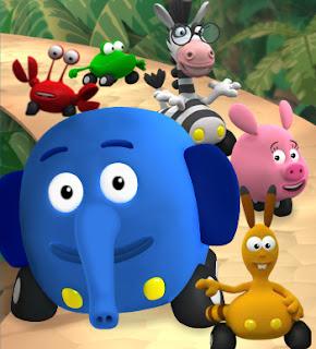 personajes jungla sobre ruedas