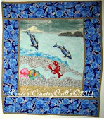 Dolphin Wall Hanging Art Quilt