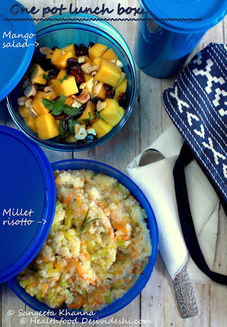 millet risotto for lunch box