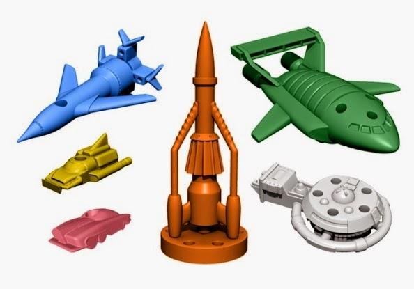 Thunderbirds Vehicle Miniatures