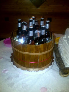 Shannon S Sweet Sensations Ruffle Wedding Cake And Beer