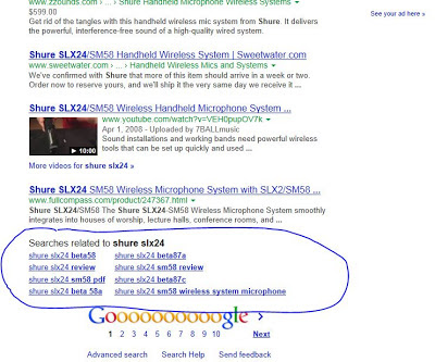 First Page of Google SERP Result