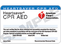 Heart Association Cpr Card Template - Cpr card template