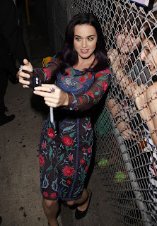 Katy Perry with her fans