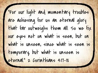 2 Corinthians 4: 17-18