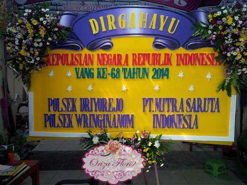 Bunga Papan Dirgahayu Polsek Driyorejo