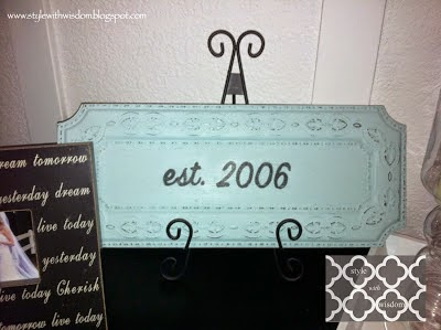 DIY established sign