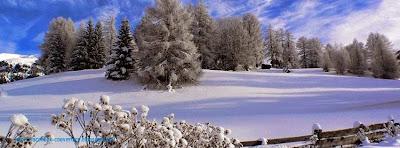 Couverture facebook personnalisée neige