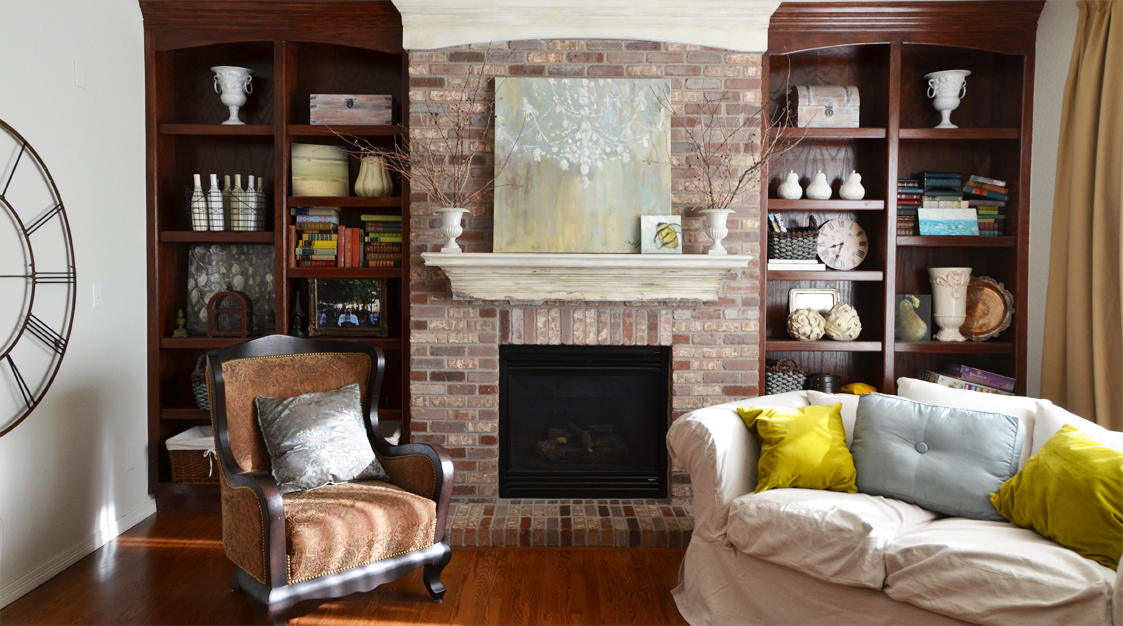 Want to paint ugly brick fireplace