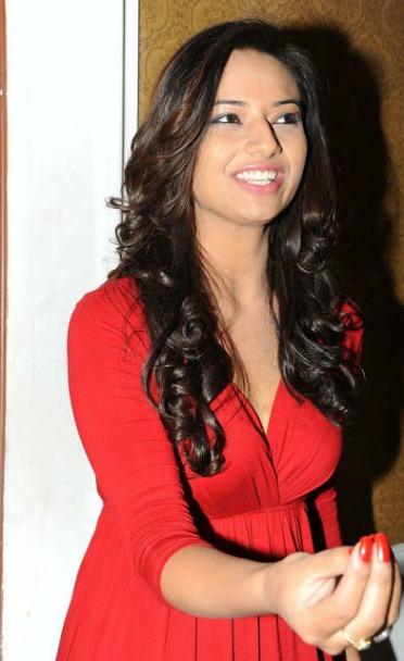 Isha Chawla in red dress