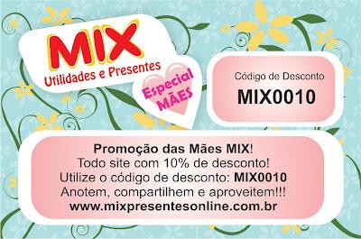 Promoção Dia das Mãs na Mix Presentes