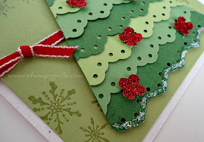 Christmas Card Sparkly Details