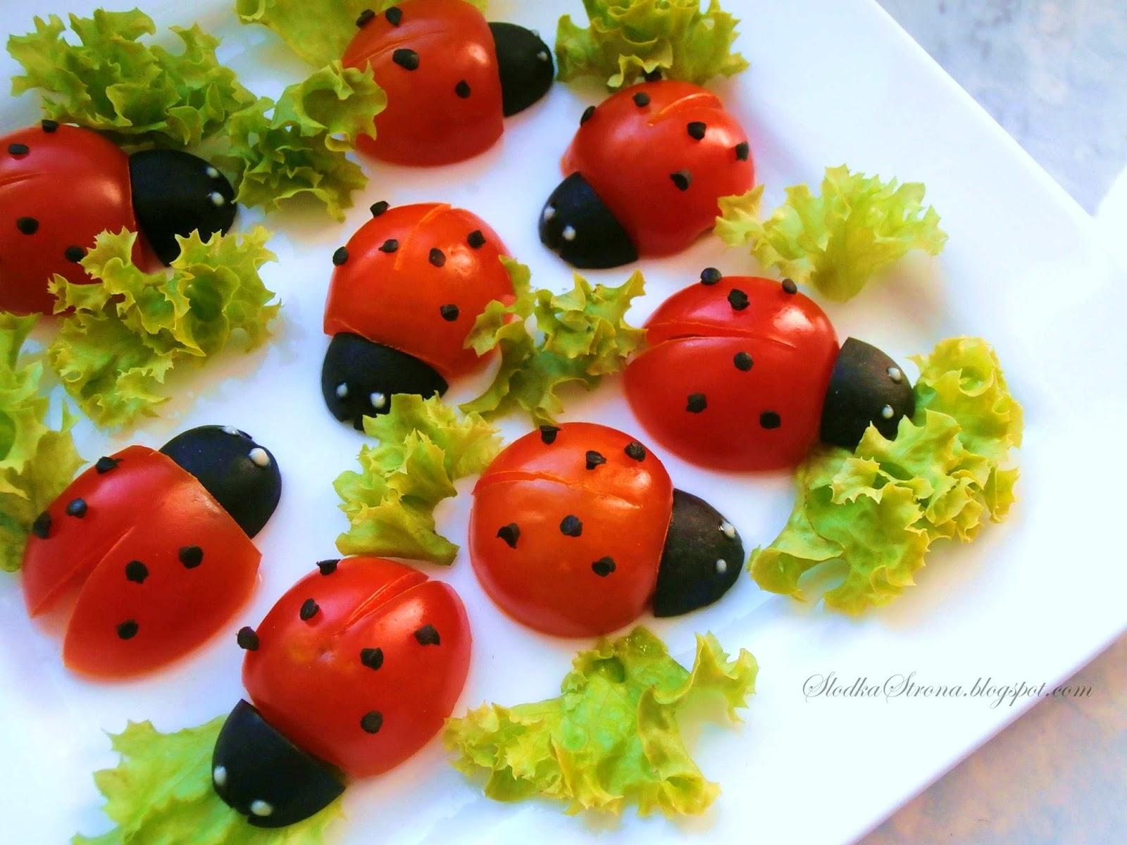 Biedronki z Pomidorków Koktajlowych (Dla dzieci)