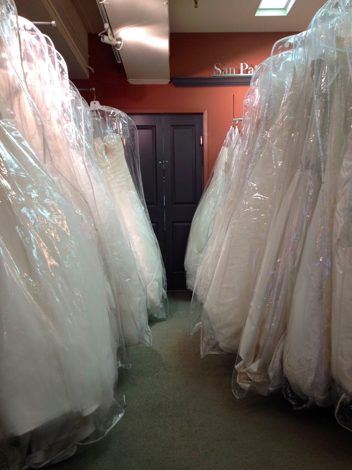 Aisle of Dress at Trudy's Bridal in Campbell, CA