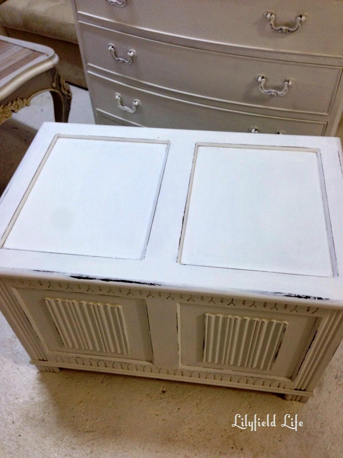 White Shabby Chic Blanket Box Lilyfield Life