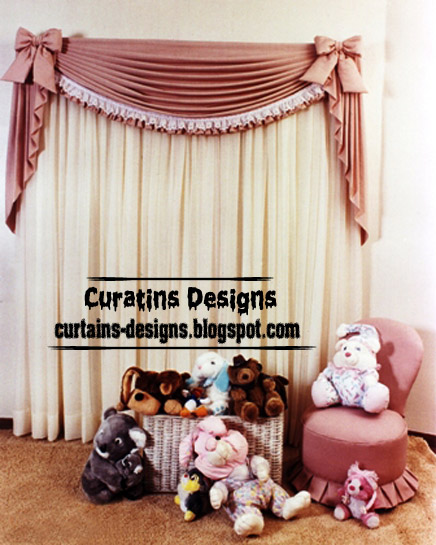 Unique Girls Bedroom Curtain Design Ideas, Pink Model