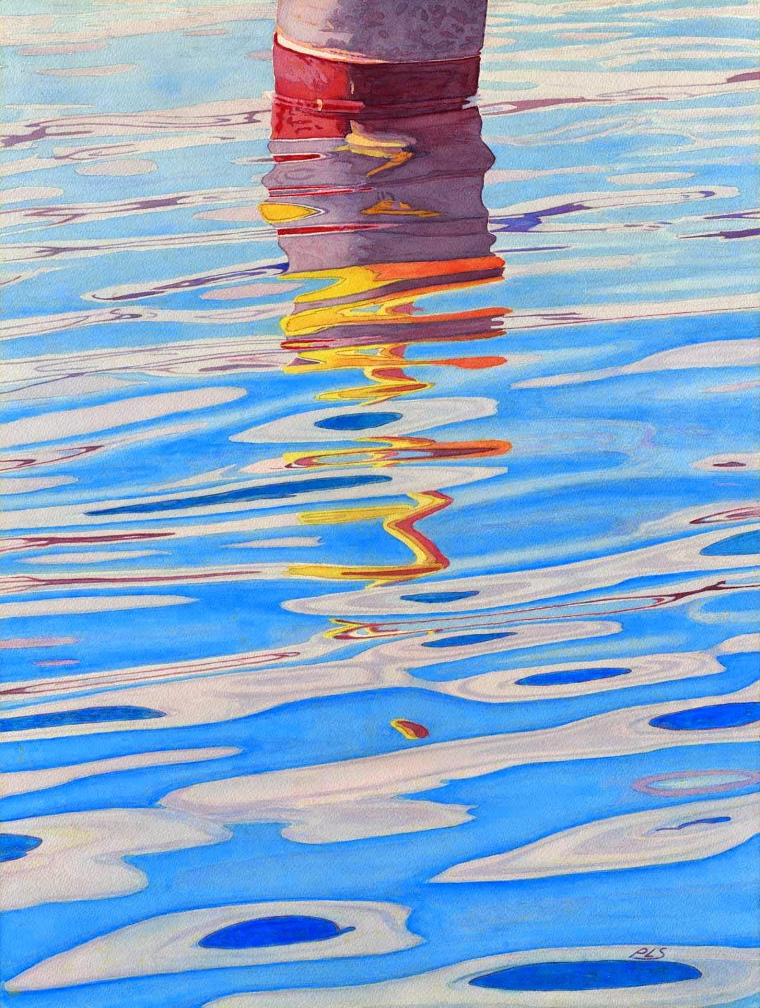"Fluid Dynamics - Watercolor 18"" x 24"""
