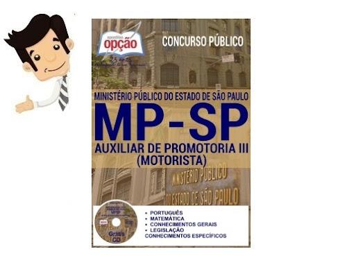 Apostila do Concurso MPSP 2016 - Auxiliar de Promotoria III (Motorista)