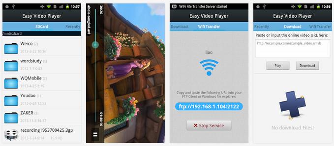 تطبيق مجاني للأندرويد لتشغيل وتحميل جميع صيغ الفيديو Easy Video Player APK 4
