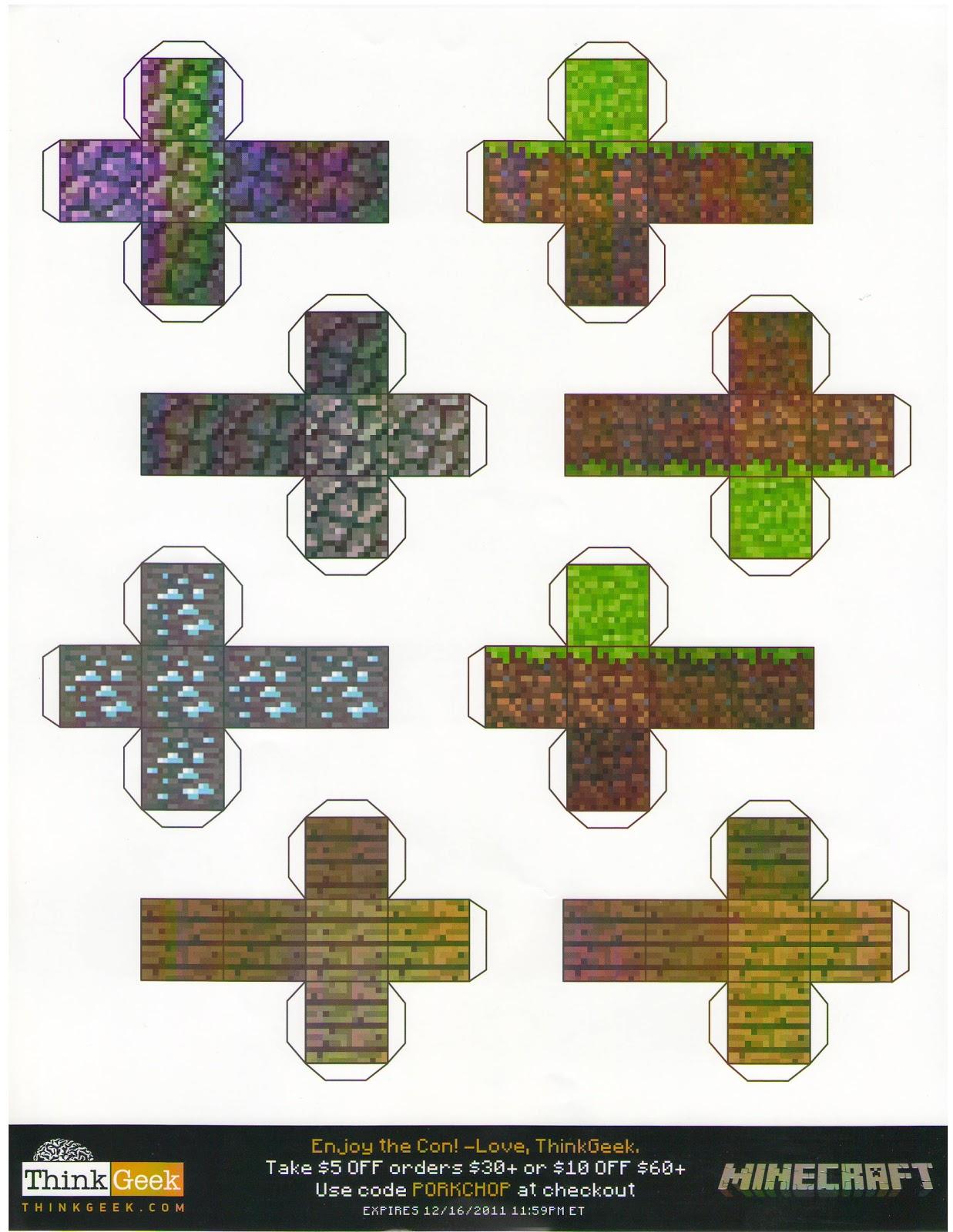 the ludi bin november 2011 - Minecraft Papercraft Diamond