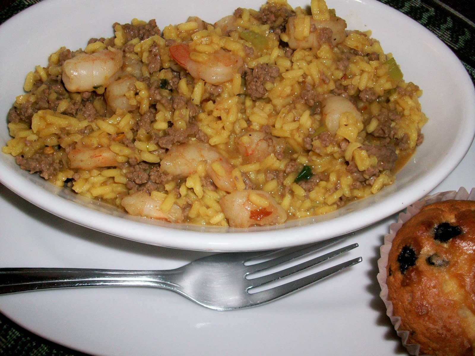 had found a dirty brown rice with shrimp recipe that i wanted to try ...