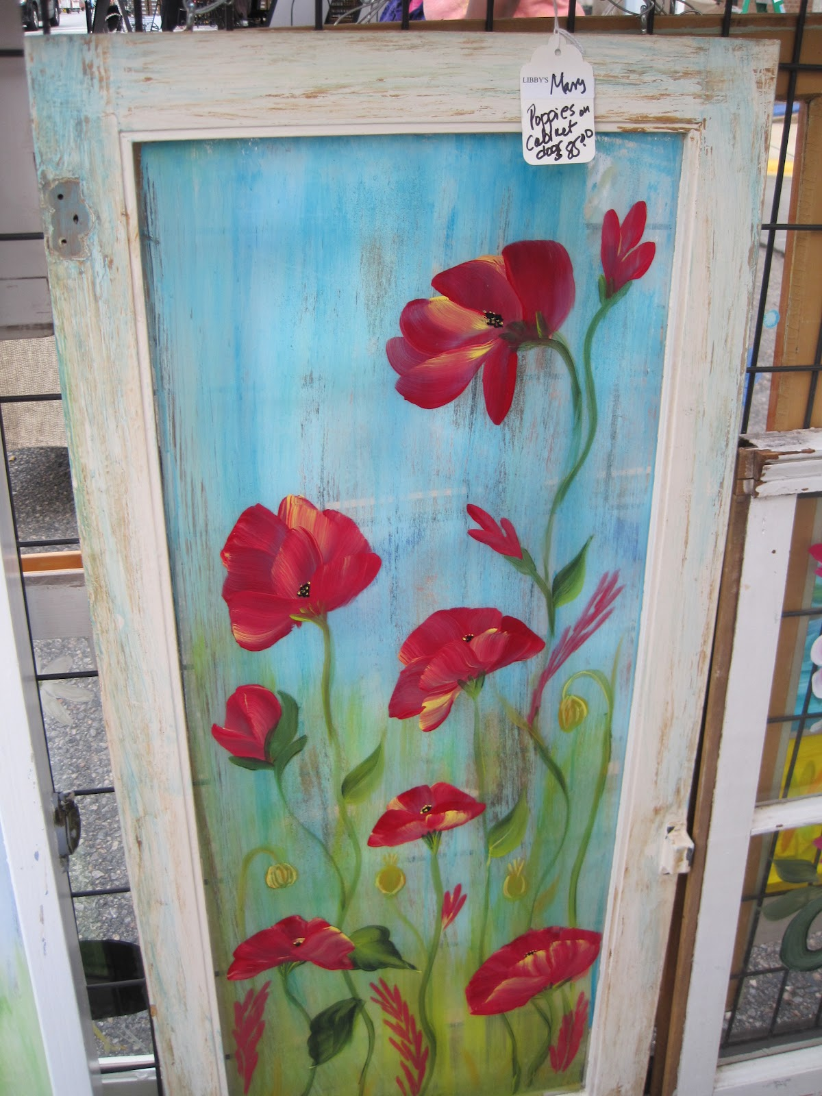 Painting On Glass Windows : Art from the heart by mary old window