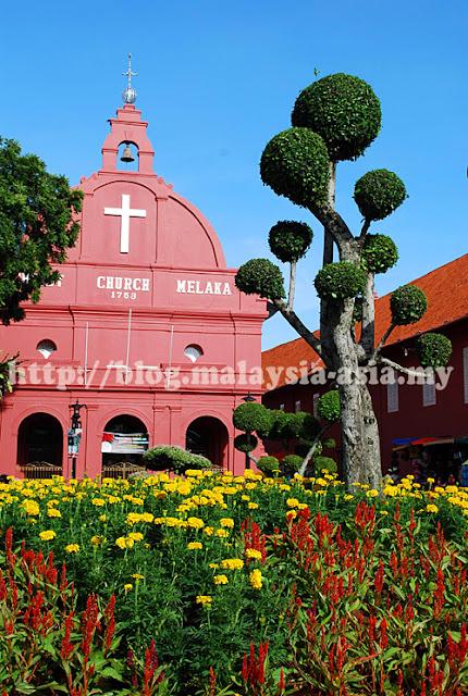 Christ church in melaka malaysia asia for Balcony 52 melaka