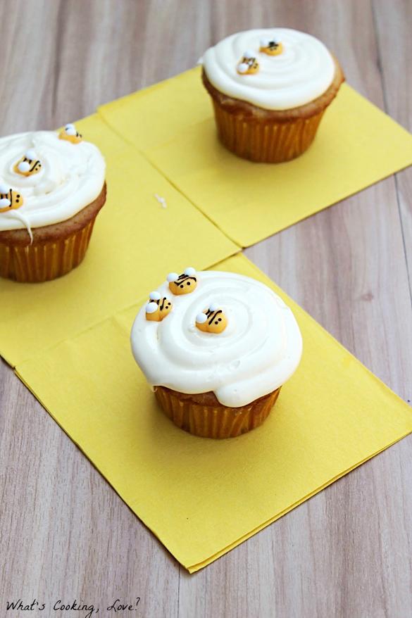 Honey Vanilla Cupcakes #disneywinnie - Whats Cooking Love?