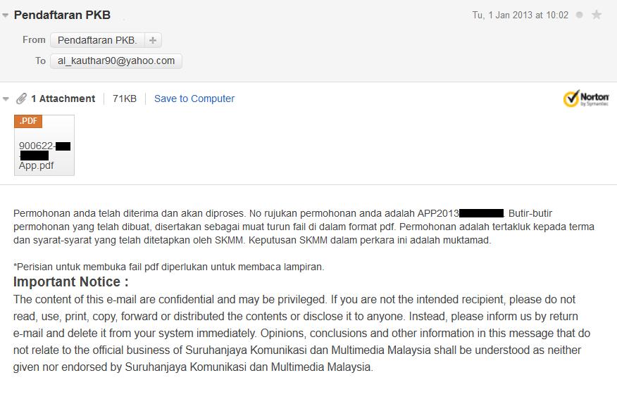 6.+Email+SKMM Pendaftaran Pakej Komunikasi Belia   Rebat RM200 SKMM Di Buka Sekarang!
