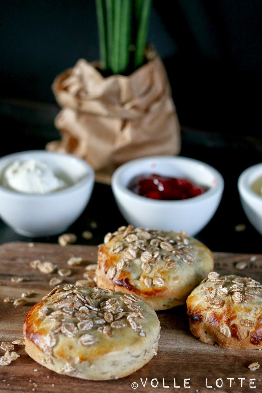 Frühstück, Breakfast, Scones, Britisch, Dinkelflocken, Müsli, Haferflocken