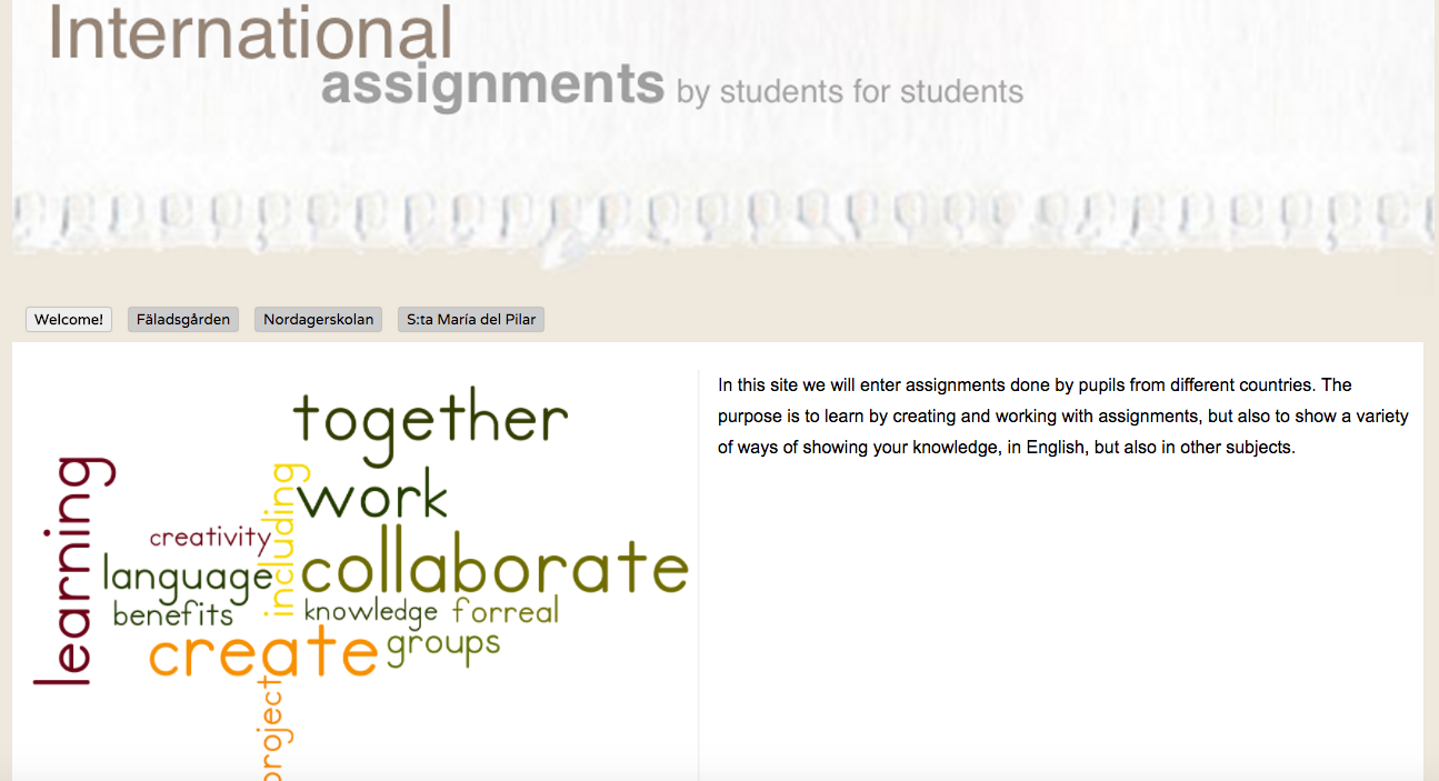 Our collaborative site - from pupils to pupils