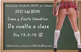 XXXI kdd asociación Arabella BDSM en Valencia