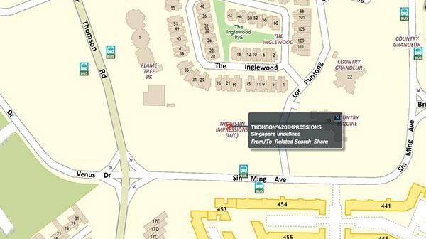 Thomson Impressions Location Map