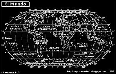 Mapamundi, atlas, blanco y negro