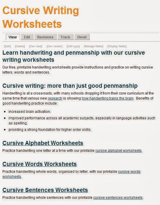 Cursive Handwriting Sentences