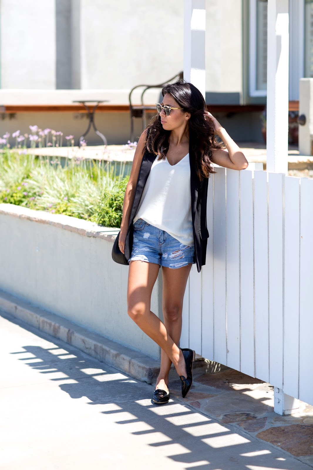 What is Letote, How to shop Letote, distressed denim outfits, how to wear patent loafers
