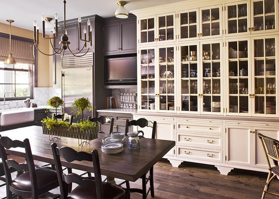 Kitchen Inspiration Month: Day Twelve   Glass Front Cabinets