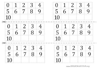 Mini livro Numerais Sapinho