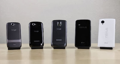 Nexus 5, Nexus 4, Galaxy Nexus, Nexus S, Nexus One