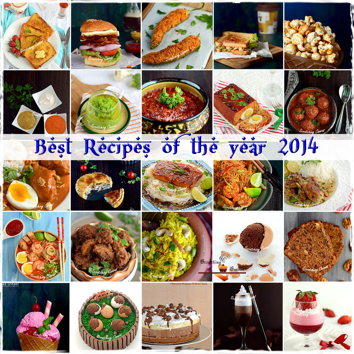 Best Recipes of the year 2014 | ScratchingCanvas