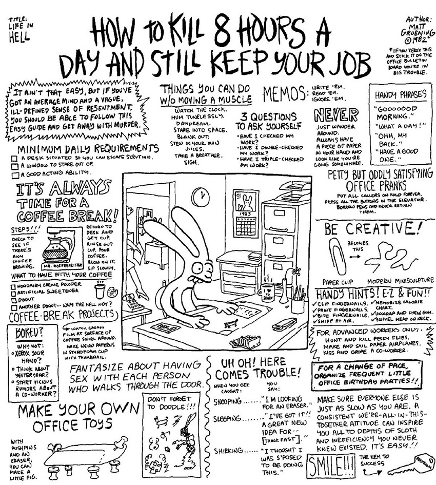 comicpageoftheweekend how to kill hours a day and still keep comicpageoftheweekend how to kill 8 hours a day and still keep your job
