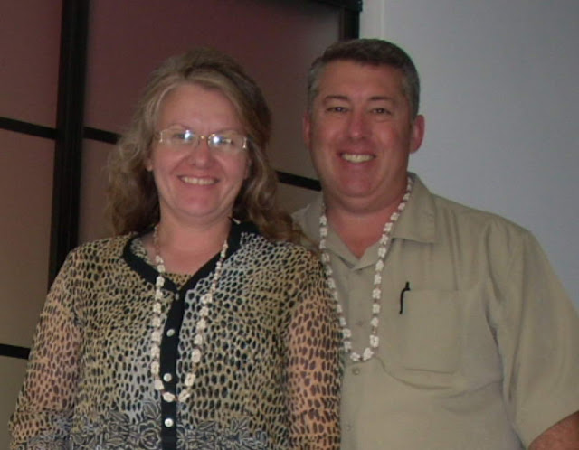 My NTCC Org Experience:  Debbie and Matt Reed were given Puka Shell necklaces which and posed for a pic.  When NTCC used this pic in their rag, The Trumpet, NTCC edited the pic, removing the necklaces.  LAME.