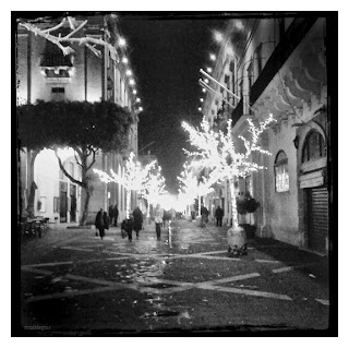 Republic Street in Valletta Malta with Christmas Decorations