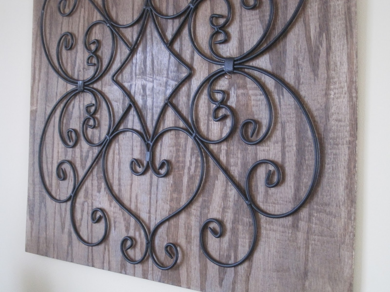 Wooden Scroll Wall Art Decorated Chaos Diy Wall Art
