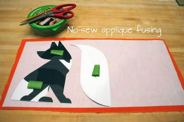 Easy DIY Fox Pillow Applique Tutorial