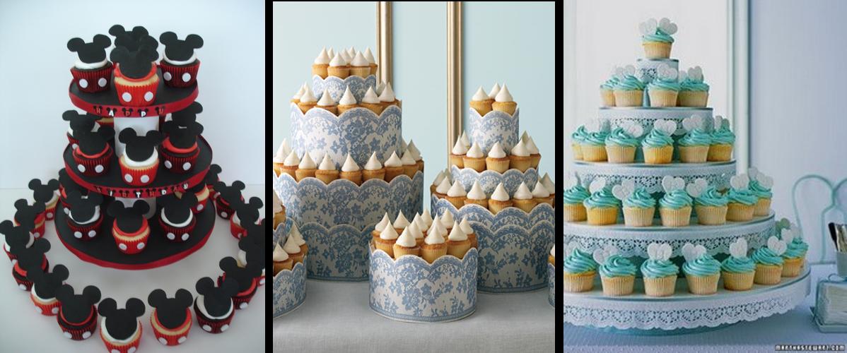 Cómo celebrar un cumple infantil saludable. Una torre de cupcakes