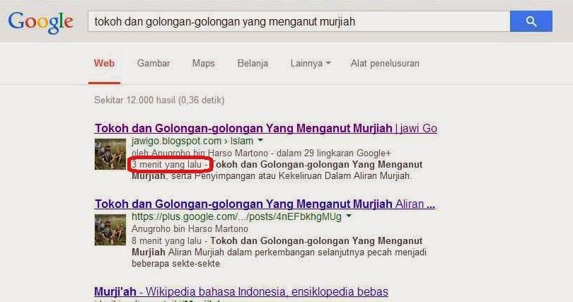 Cara Mempercepat Artikel Terindex Search Engine Google (Mendaftarkan Peta Situs ke Webmaster) Halaman Pertama Google