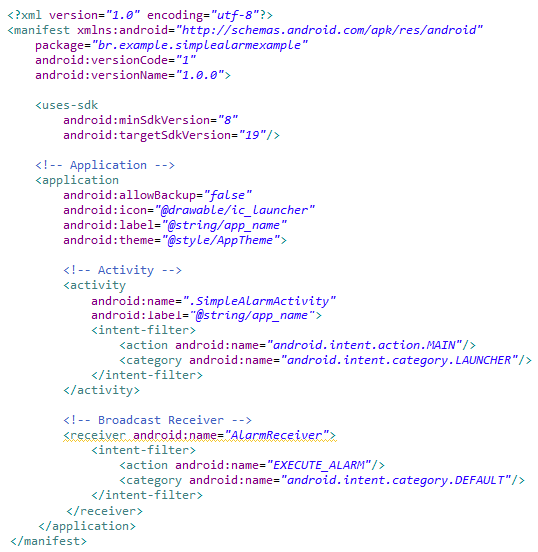 Programação em Android: Alarmes e Broadcast Receivers
