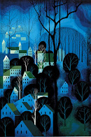 Eyvind Earle - Night Blue